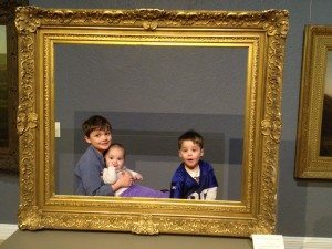 Jen Wayock gets her sons to create their own picture to add to the Hudson River School collection.
