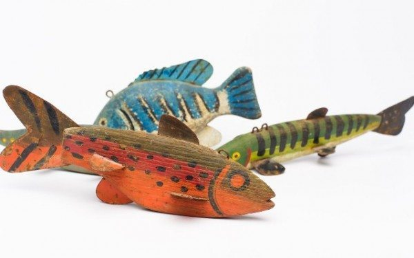 Fish Lures from the Berkshire Collects Exhibit at the Berkshire Museum