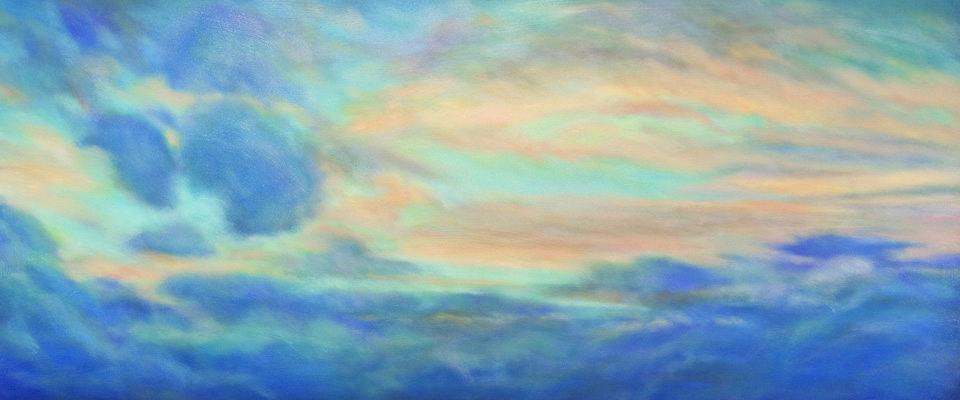 Pastel of sunset by Jim Schantz