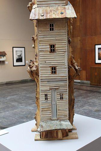 Robert Hite, Black Willow Tower, detail, mixed media, 2014/2015.