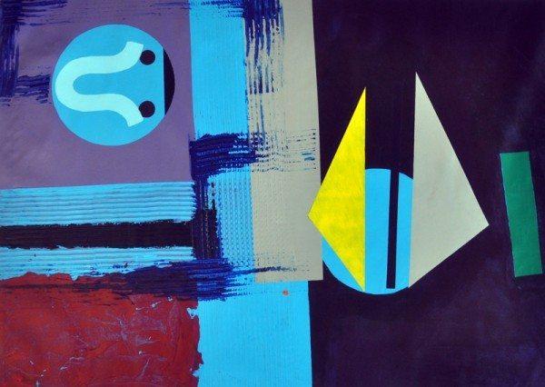 "David Gardner, Untitled, 2011, acrylic on canvas, 47"" x 52"""