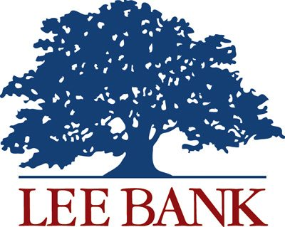 Lee Bank logo featuring a blue tree