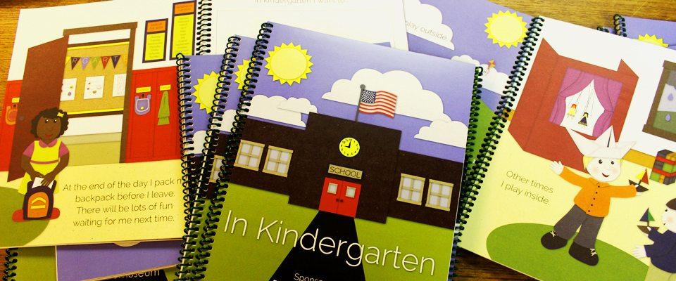 Photo of copies of the book In Kindergarten