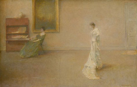 Thomas Wilmer Dewing, Two Ladies in a Drawing Room/The White Dress