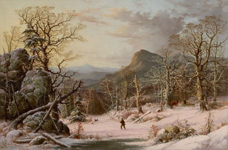 George Henry Durrie, Hunter in Winter Wood