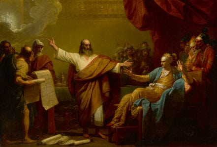 Benjamin West, Daniel Interpreting to Belshazzar the Handwriting on the Wall