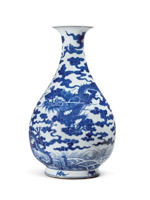 A Large Blue And White 'Dragon' Vase, Qing Dynasty, 18th / Early 19th Century